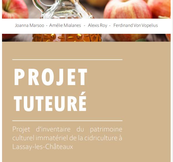 Des étudiants en projet tuteuré sur la thématique du patrimoine cidricole dans le cadre du programme Caractère[s] de Lassay-les-Châteaux
